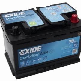 Аккумулятор Exide START-STOP AGM EK700 70 Ач ОП гелевая